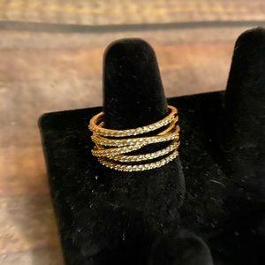 Stella & Dot Stellar Pave Ring Gold